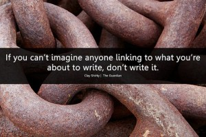 Imagining Links - Will Lion Shirky quote