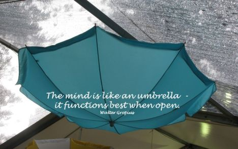 Quote - mind is like an umbrella