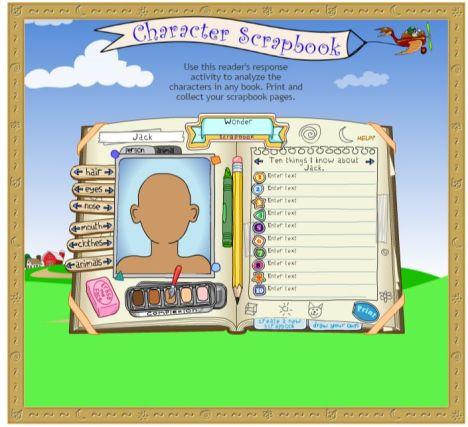 Character Scrapbook (Scholastic)