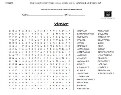Wordsearch-Wonder